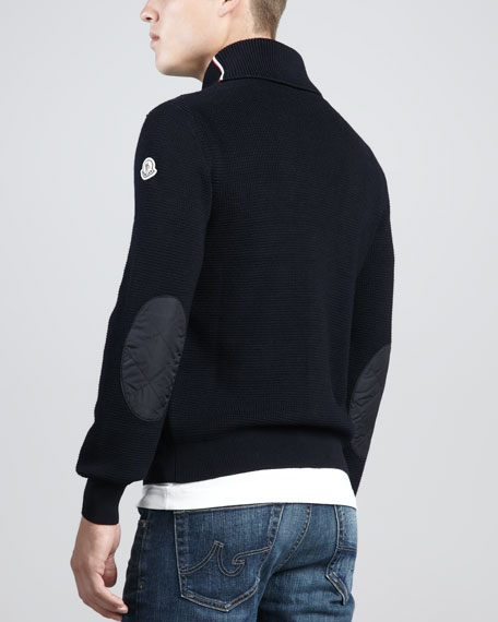 4-Pocket Knit Cardigan, Navy