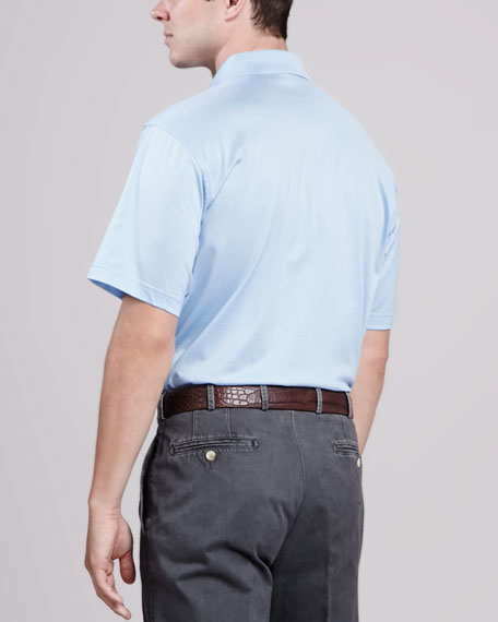 Solid Polo Shirt, Light Blue