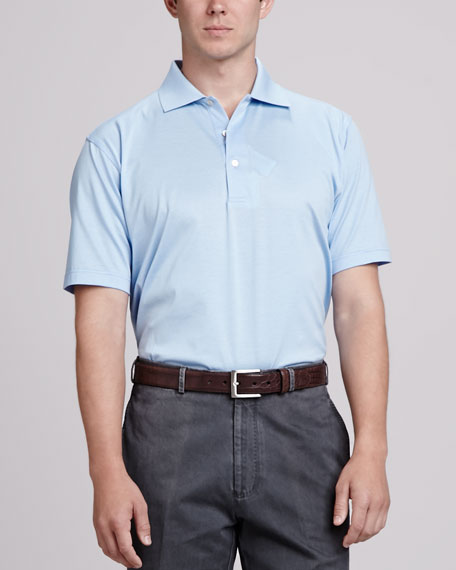 Peter millar solid polo shirt light blue for Peter millar polo shirts
