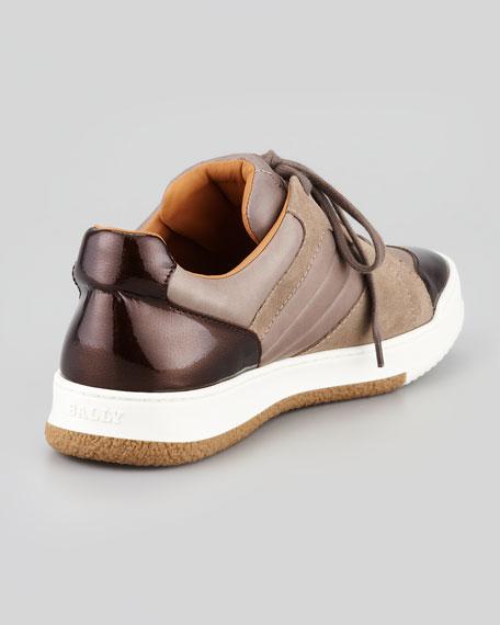 Suede & Leather Low-Top Sneaker, Flint