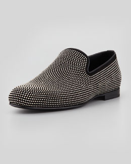Jimmy Choo Sloan Men's Mini-Studded Loafer, Black