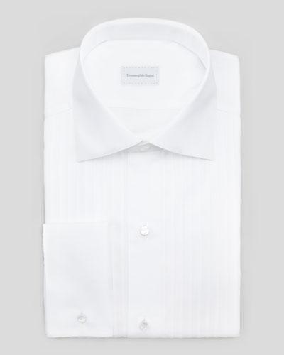 Ermenegildo Zegna Ribbed-Bib Tuxedo Shirt