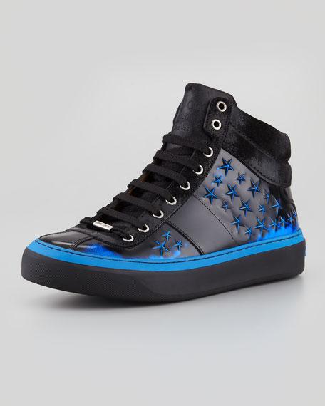 Belgravia Men's 3D Star High-Top Sneaker