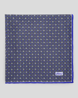 Brioni Medallion Neat Foulard Square, Purple