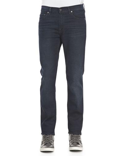 Acne Studios Ace Soft Blue-Black Five-Pocket Jeans