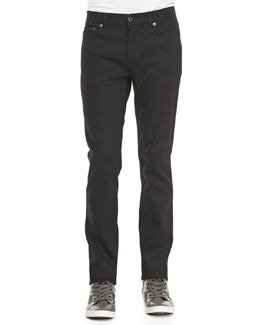 Acne Studios Ace Cash Five-Pocket Jean, True Black