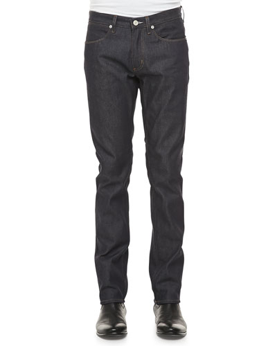 Acne Studios Max Raw Low-Rise Jean, Navy