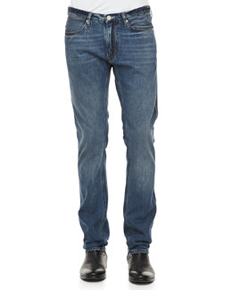 Acne Studios Max Vintage Blue Five-Pocket Jeans, Navy