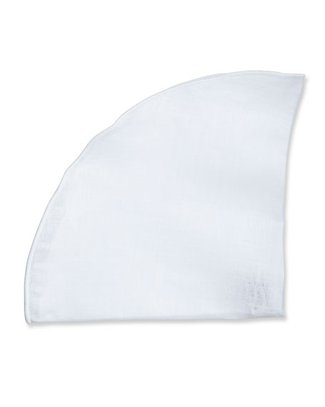 Edward Armah Solid Silk Pocket Circle, White
