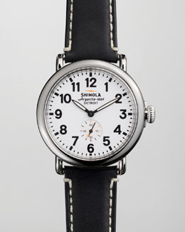 Shinola 41mm Runwell Men's Watch, White/Black