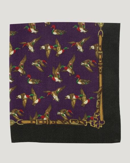 Duck Wool-Twill Pocket Square, Purple