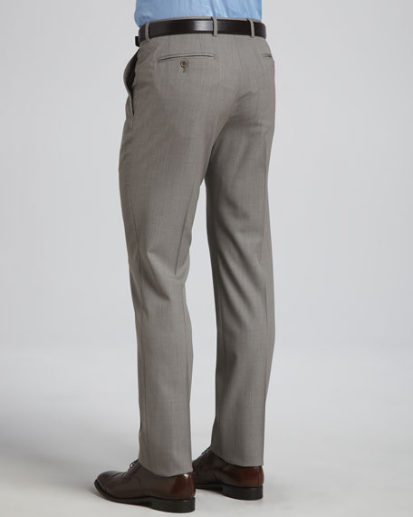 Flat-Front Trousers, Taupe