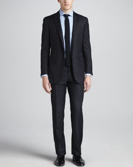 Ralph Lauren Black Label Fine-Pinstripe Suit, Navy