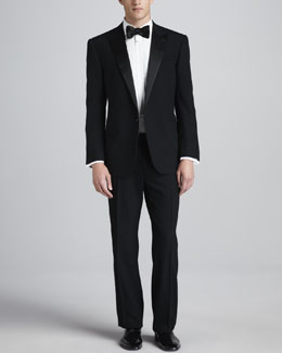 Ralph Lauren Black Label Peak-Lapel Tuxedo, Black