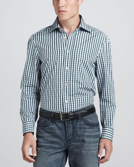 Check Sport Shirt,  Blue/Green