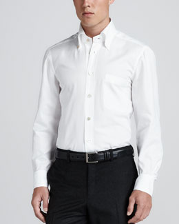 Kiton Oxford Dress Shirt, White