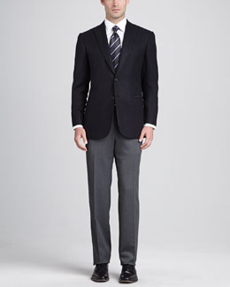 Brioni Chevron Sport Jacket, Black