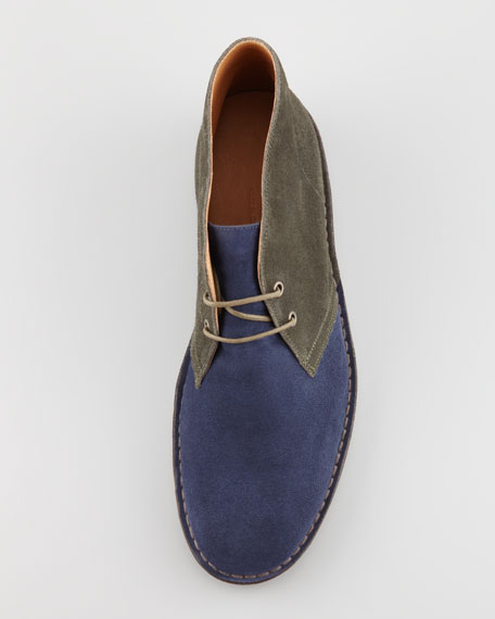 Kelby Suede Chukka Boot, Navy/Olive