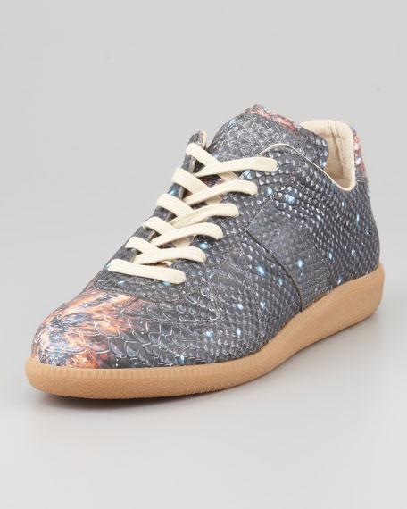 Maison martin margiela replica milky way printed sneaker for Replica maison martin margiela