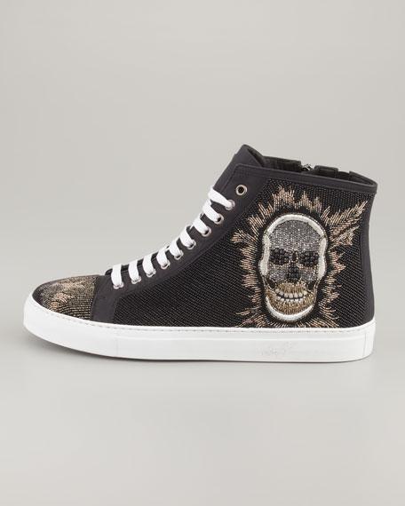 Lajos Skull Beaded High-Top Sneaker