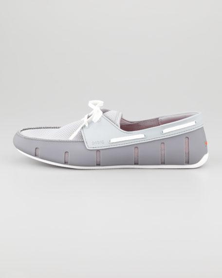 Rubber/Mesh Sport Loafer, Gray