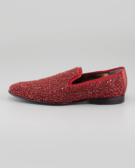 Pascow Jeweled Loafer, Red