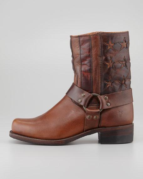 Harness Americana Short Boot, Dark Brown