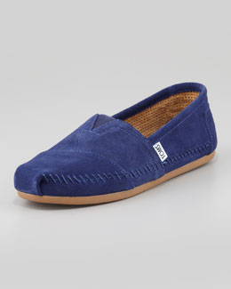 TOMS Suede Sitka Moccasin Slip-On, Navy