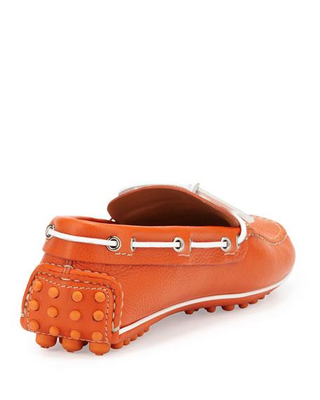 Slip-On Driving Shoe, Orange
