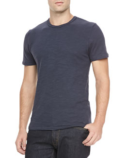 Rag & Bone Basic Crew Tee, Navy