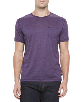 John Varvatos Star USA Burnout Pocket Tee, Dusty Violet