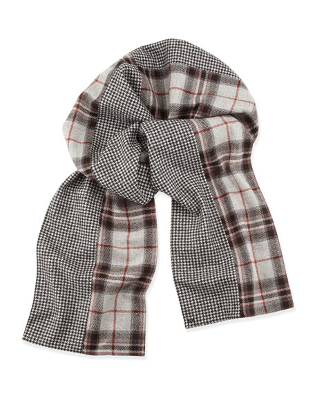 Sherman Limited-Edition Plaid/Houndstooth Scarf