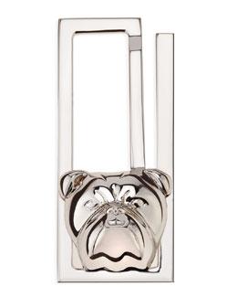 Alfred Dunhill Silver Bulldog Money Clip