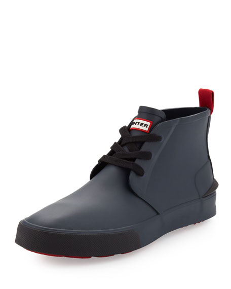 Bakerson Lace-Up Rubber High-Top, Navy