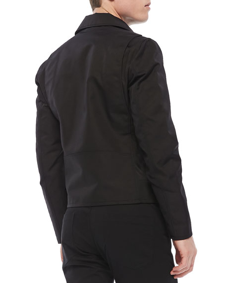 Vilson Moto-Jacket in Boss Nylon, Black