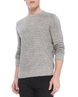 Theory Riland X Sweater in Palomer, Dark Gray