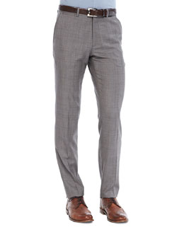 Theory Marlo Pants in Lenton Wool, Beige