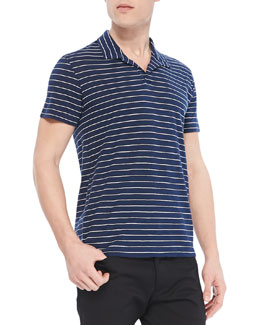Theory Willem Cohesive Short-Sleeve Polo, Navy