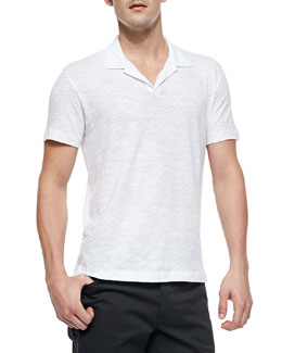 Theory Willem Cohesive Short-Sleeve Polo, White