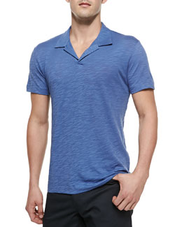 Theory Willem Cohesive Short-Sleeve Polo, Blue