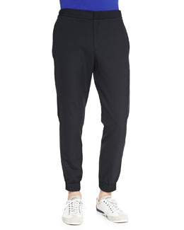 Theory Stretch-Nylon Track Pants
