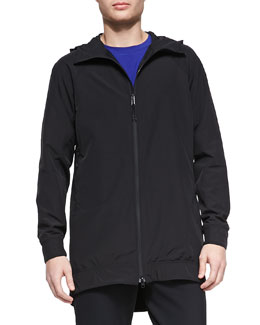 Theory Esque Stretch-Nylon Zip Anorak Jacket