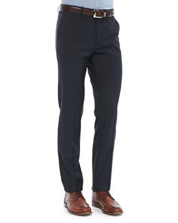 Theory Marlo Pants in Ronas Wool, Navy