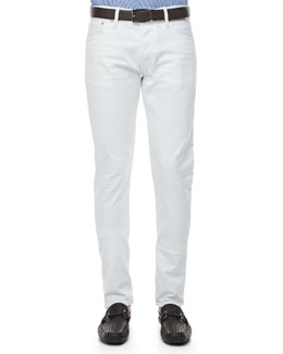 Ralph Lauren Black Label Slim-Fit Denim Jeans, White