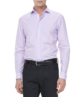 Ralph Lauren Black Label Striped Dress Shirt, Purple