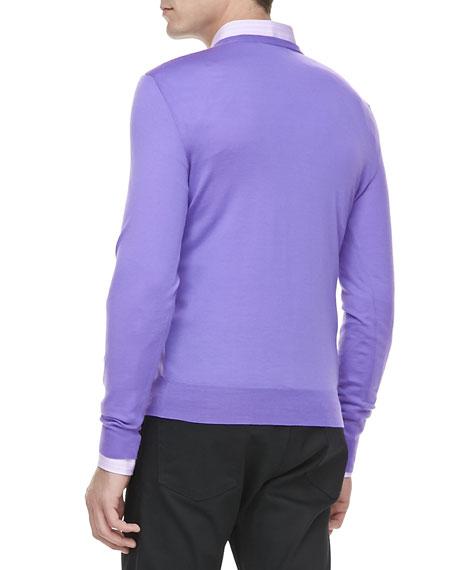 V-Neck Pullover, Light Purple