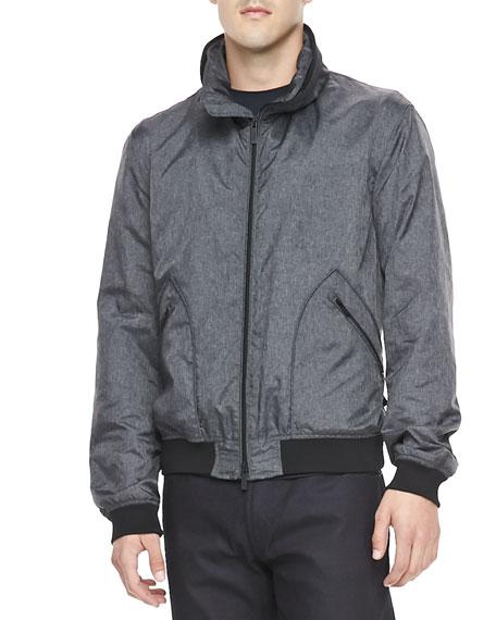 Melange Bomber Jacket, Med Gray