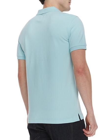 Three-Button Polo Shirt, Light Green