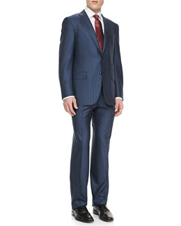 Ermenegildo Zegna Two-Piece Alternating-Stripe Suit