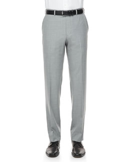 Ermenegildo Zegna Cool Effect Dress Pants, Light Gray